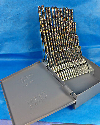 60 Pc Black Gold Drill Bit Set 1 To 60 Huot Case.135 Sp Industrial Quality