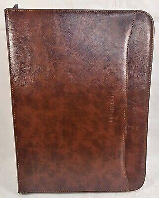 Ivesign Pu Leather Briefcase Business Binder Padfolio Portfolio With Zippered