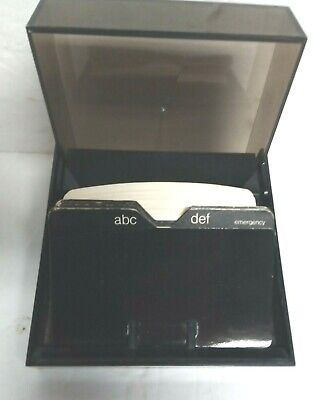 Eldon Office Products Rolodex Style Business Card File Box Smoke Tint 1977