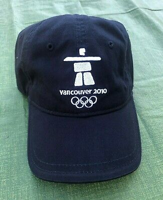 Official Vancouver 2010 Dad Hat Baseball Cap Winter Olympics Strapback Dark Blue for sale  Edmonton