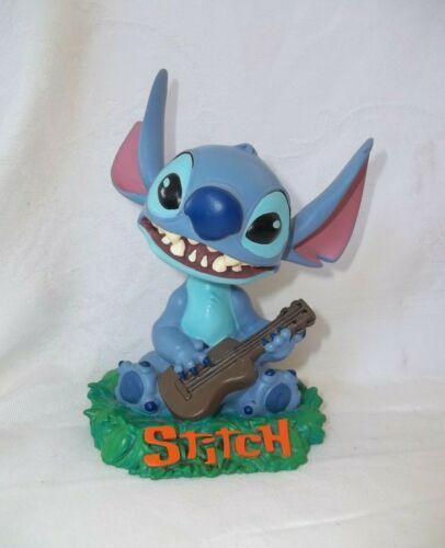 "Bobble Dobbles STITCH playing Ukulele Bobblehead Head Disney Lilo & Stitch 5¾"""