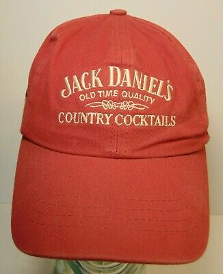 Jack Daniel's Country Cocktails Party Drinks ADJUSTABLE HAT CAP Made in USA