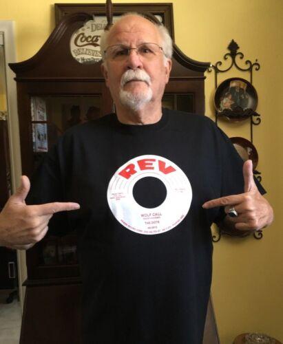"New THE DOTS ""Wolf Call"" 100% cotton, black T-SHIRT Rev records Arizona Doo Wop"