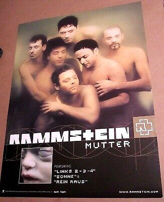 Rammstein 2001 Original Mutter 2-sided Promo Poster