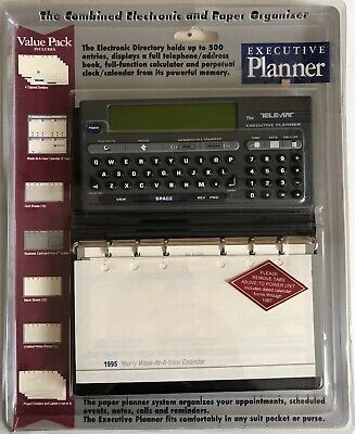 Vintage Executive Planner Electronic And Paper Organizer Tele-Art Telephone NEW