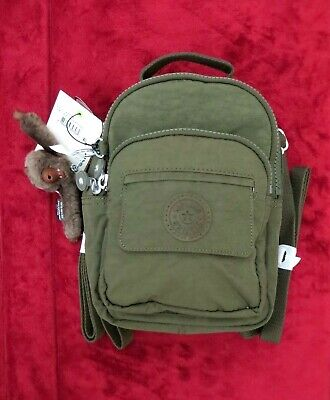 NWT~ Kipling Alber 3-in-1 Convertible mini xbody bag Backpack ~ Jaded Green