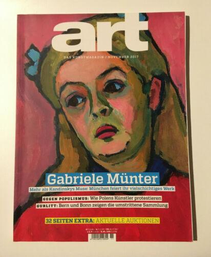 art das Kunstmagazin November 2017 - 11/2017 *Gabriele Münter