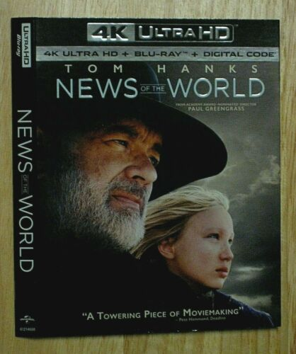 NEWS OF THE WORLD, THE NEW MUTANTS, NOW YOU SEE ME, NEZHA  4K Blu ray slipcover