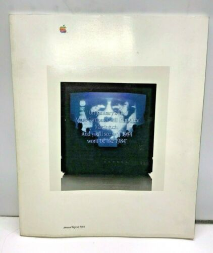 Vintage Apple Computer 1984 Annual Report RARE From Estate of Employee