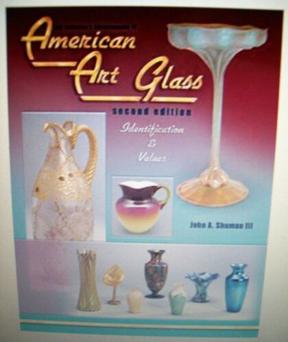 VINTAGE ART GLASS PRICE GUIDE $$$ ID COLLECTORS BOOK Hardback Picture