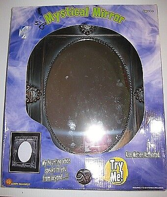 VINTAGE Gemmy MYSTICAL MIRROR Animated 3D SCARY SKULL Phrases Halloween *RARE*](Gemmy Animated Halloween Props)