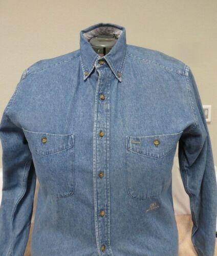 Vintage Late 1990s Acura Long Sleeve Denim Shirt - Size Medium