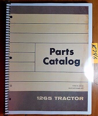 Wfe White Cockshutt Oliver 1265 1270 Tractor Parts Catalog Manual 1271 1073