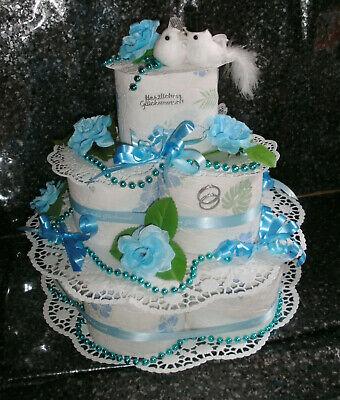 t Hochzeitsgeschenk Toilettenpapier Torte Blaues Top Design  (Hochzeitstorte Tops)
