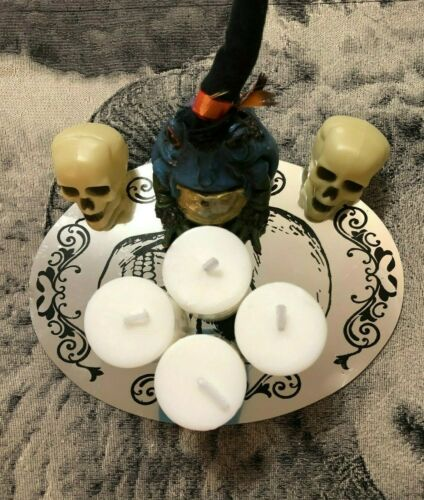 Witchcraft White Altar & Spell Candle Set ~4 Ritual Witchcraft Candles /Supplies
