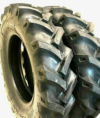 Two 5.00-15 Tires Lug Hay Rake Compact Tractor Tire Lug 500 15 R1 500-15 Lug