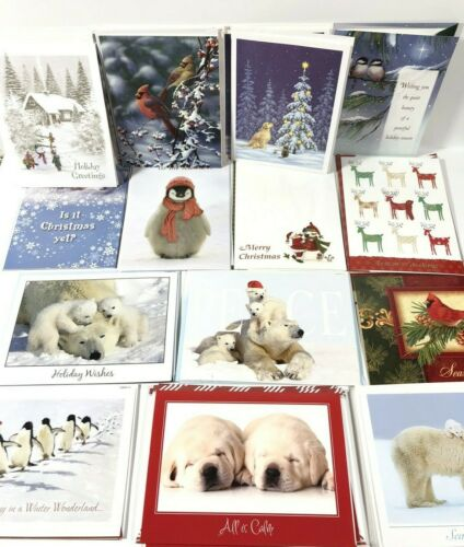 National Wildlife Federation Lot Of 31 Christmas Cards w/Envelopes Unused