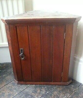 Antique corner wall bathroom cabinet c1900 with original art nouveau handle