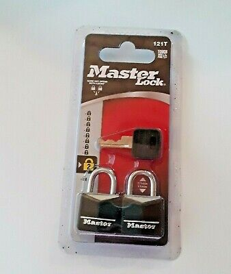 Master Lock  Steel  3-Pin Tumbler  Padlock  2 pk Keyed Alike Small Lock Tumbler Padlock