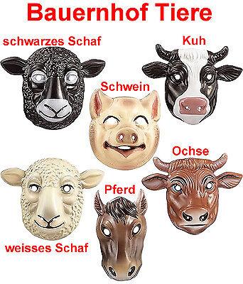 r Maske Tiere Farm Kuh Ochse Pferd Schwein Schaf  (Maske Schafe)