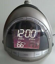 Homedics SoundSpa Premier Alarm Clock Radio Nature Sound Temp Projection SS-5010