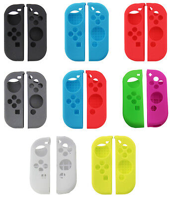 - Silicone Rubber Skin Case Gel Cover Grip For Nintendo Switch Joy-Con USA!