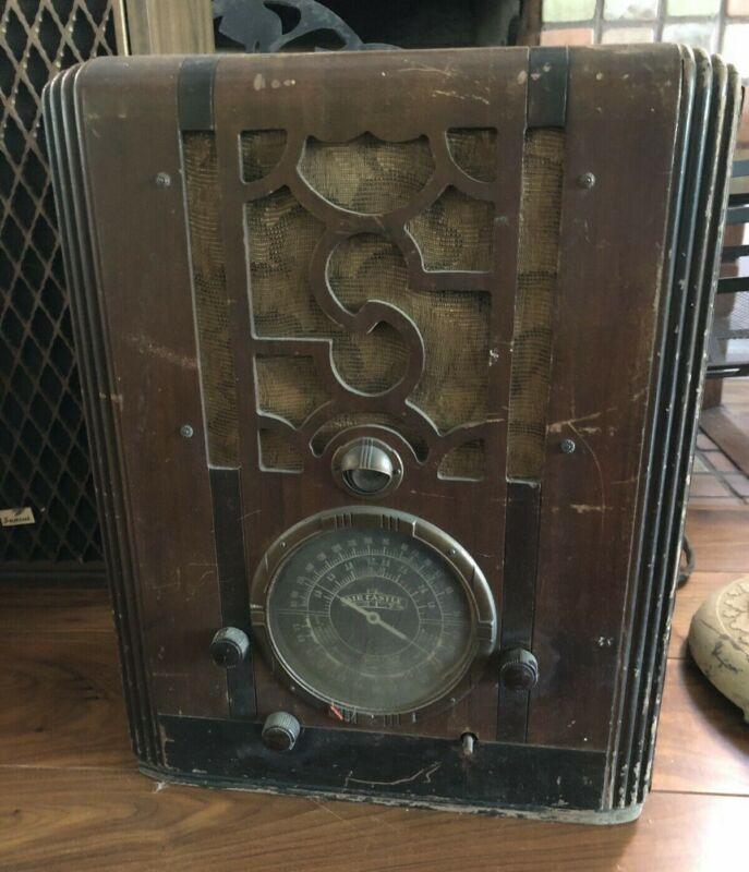 Antique Early 1900s Air Castle Floor Radio