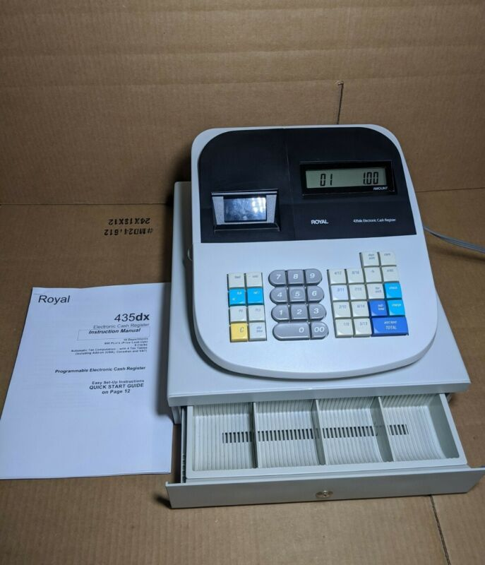 Royal 435dx Electronic Cash Register - No Keys - WORKING- Programmable w/ Manual