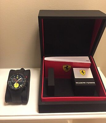FERRARI SCUDERIA Sport Chronograph Watch with box