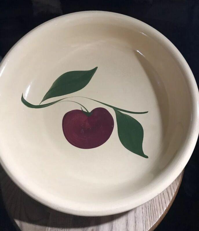 Vintage Watt Apple Pasta Bowl
