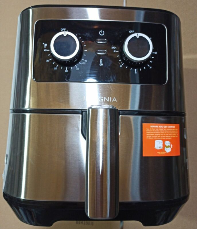 Insignia- 5-qt. Analog Air Fryer - Stainless Steel