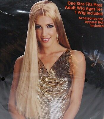 61cm Blonde Perücke Erwachsene Alter 14 und Geschnürt - Blonde Perücken Für Halloween
