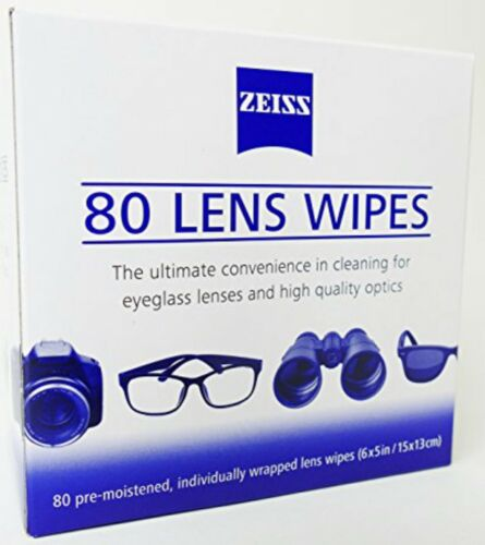 ZEISS Lens Cleaning 80 Wipes Eye Glasses Computer Optical Lense Cleaner