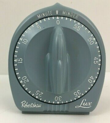 Vintage  Robertshaw LUX MINUTE MINDER Kitchen Timer Sage Green Made in USA
