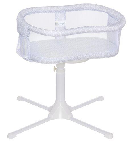 HALO Bassinest Essentia Series Swivel Sleeper Bassinet Infant Baby Crib Gray NEW