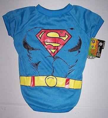 DC Comics Superman Super Man Dog Costume Shirt Sz Large Halloween Super Hero