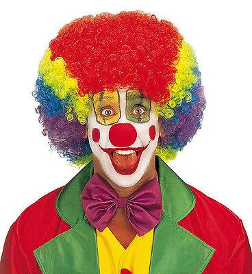 Bunte Clown Perücke Multicolor Clownperücke Kostüm Zubehör Zirkus Karneval, bunt