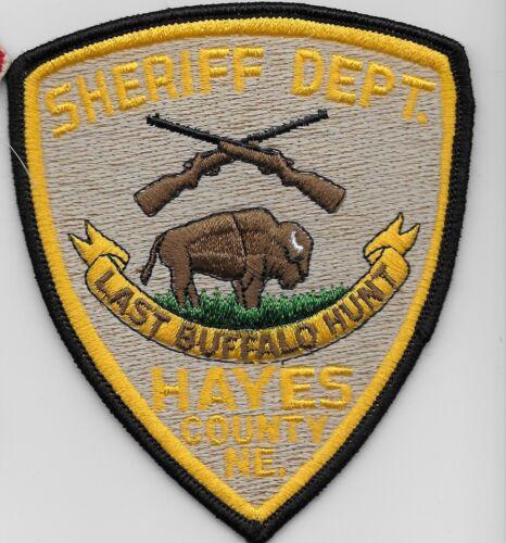 Hayes County Sheriff State Nebraska NE Last Buffalo Hunt  Vintage patch