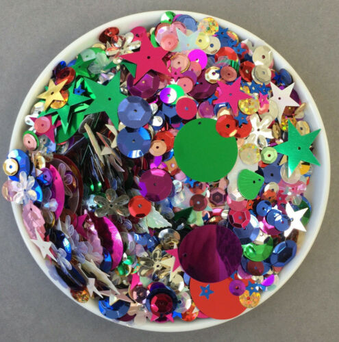 50+grms+Sequin+Mix+-+Assorted+Shapes%2BColours.+Fun+mix+Crafting%2FDIY%2FEmbellishment