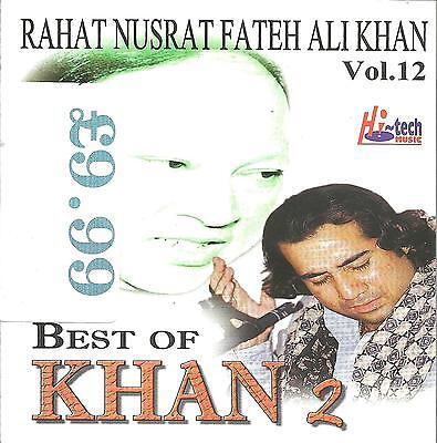 RAHAT NUSRAT FATEH ALI KHAN - BEST OF KHAN 2 -  - VOL 2 - NEW ORIGINAL UK (Best Of Nusrat Fateh)