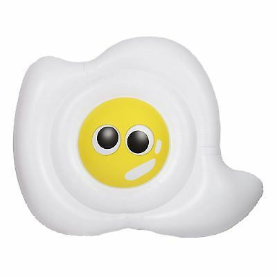 NPW Giant Inflatable Fried Egg Float Chair Pool Home Indoor Outdoor Fun 1.8m