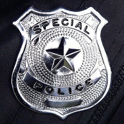Polizeimarke Polizeiabzeichen Metall Special Police US Karneval Fasching Polizei