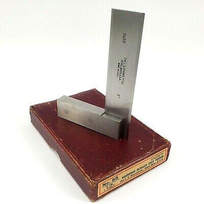 Vintage Machine Tools Starrett No.55 3in. Hardened Beveled Edge Square