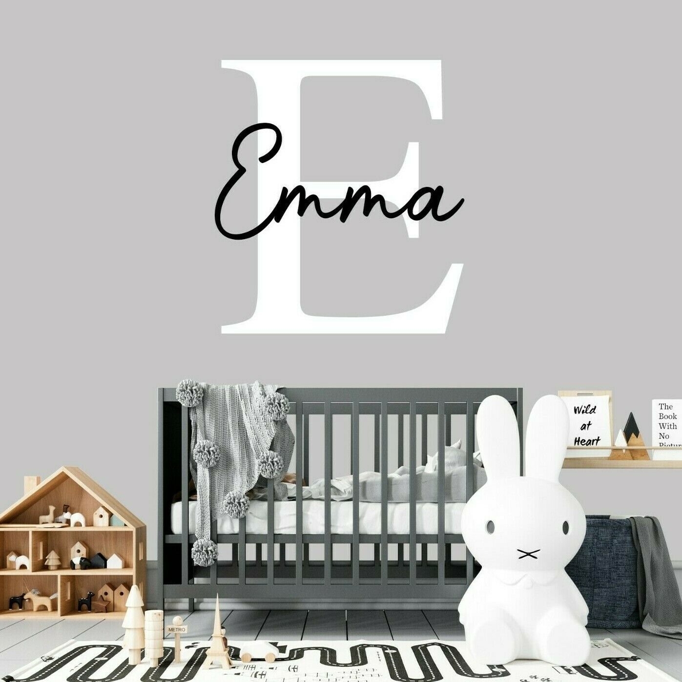 Home Decoration - Custom Name Personalised Nursery Wall Decal Kids Baby Art Bedroom Wall Sticker