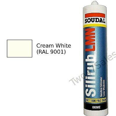 Cream White RAL 9001 Silicone Sealant Mastic External Window Seal upvc LMN