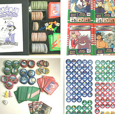 Pokemon Master Trainer Parts YOU PICK! Replacement Pieces Cards 1999 Board Game ()