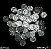 Uncirculated Mercury Dime Roll