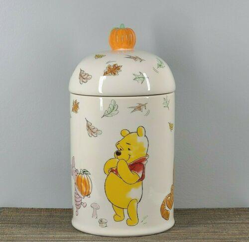 NEW Disney Winnie The Pooh and friends Cookie Jar ceramic Autumn pumpkin