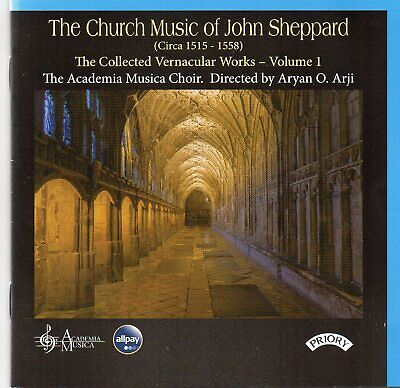 The Church Music Of John Sheppard - The Collected Vernacular Works Volume I CD