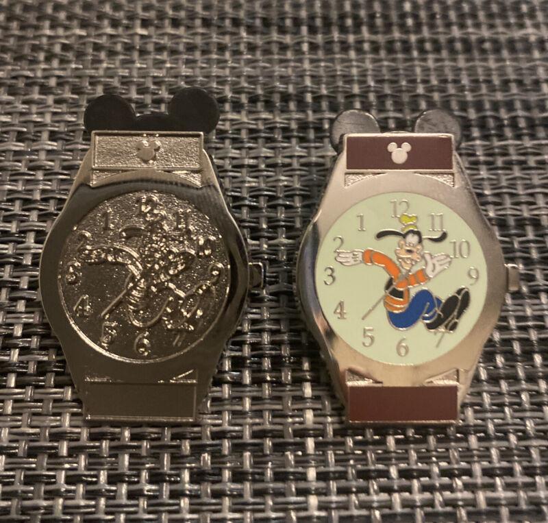 DLR Disney Goofy Watch And Goofy Chaser Watch Hidden Mickey watches Pins